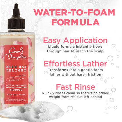 Wash Day Delight Sulfate Free Shampoo with Rose Water