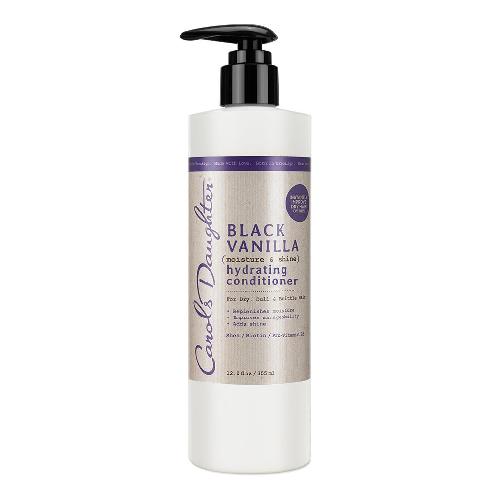 INSTANTLY IMPROVES DRY HAIR BY 80%! No Parabens, No Mineral Oil, No Artificial Colors, No Petroleum FOR DRY, DULL OR BRITTLE HAIR. You can instantly put an end to dry, dull, brittle hair. When you naturally balance hair's moisture - manageability, softness and shine are just around the corner. This rich hydrating conditioner can do just that, plus it detangles and makes hair easier to style. The blend of Pro-vitamin B5 and Biotin strengthens and softens hair when it's wet so there are fewer snags, snaps and tugs. And, it's light enough to use daily and is also perfect as a co-wash. Powerful ingredients at work: SheaBiotinPro-vitamin B5 >> CLICK HERE to read how to use Black Vanilla on all hair types-even weave.