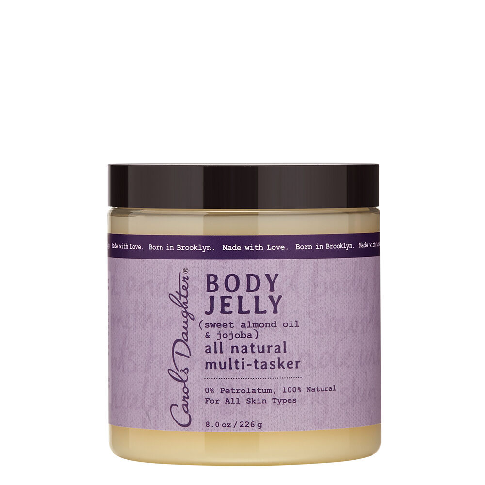 Hydrates, soothes and nourishesNo Silicones. No Parabens. No Petrolatum. No Mineral Oil. No Artificial Colors. The Body Jelly RecipeBlended with Sweet Almond Oil, Jojoba Oil, and other all-natural moisturizers, this moisture-rich multi-tasker instantly hydrates, soothes and nourishes, leaving skin with a healthy-looking glow. Perfect for all over use, or on elbows, heels, lips or even removing face makeup!