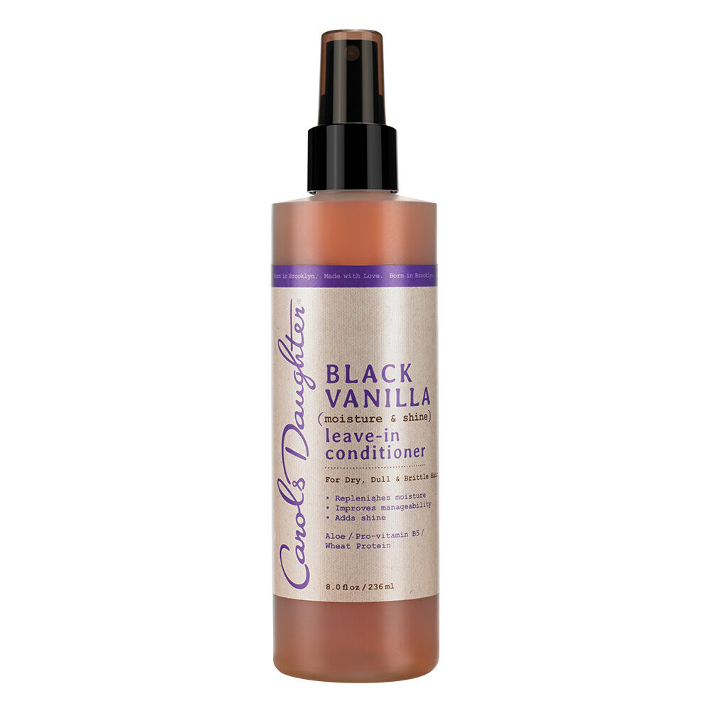 REPLENISHES MOISTURE, IMPROVES MANAGEABILITY, ADDS SHINE! No Silicones, No Parabens, No Mineral Oil, No Artificial Colors, No Petroleum FOR DRY, DULL OR BRITTLE HAIR. Dry, dull, brittle hair can be fixed in an instant so hair can immediately be more manageable and softer with lots of shine. This weightless leave-in conditioner restores natural moisture and adds strength to your hair. The blend of Wheat Protein and Pro-vitamin B5 fortifies your hair so it's healthier and won't break when detangling. Made with natural moisturizers instead of synthetic silicones for true hydration that doesn't rinse away and can be used every day without the fear of weighing-down your hair. Powerful ingredients at work: Pro-vitamin B5LavenderHoneysuckleSageCalendulaWheat GermAloe Leaf >> CLICK HERE to read how to use Black Vanilla on all hair types-even weave.