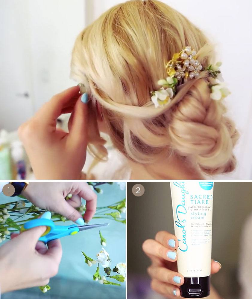 French Braided Updo Hairstyle Tutorial Carols Daughter